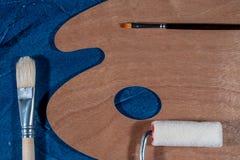 Escovas da arte para pintar fotos de stock