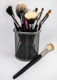 Escovas da composição em um fundo branco Fotografia de Stock Royalty Free