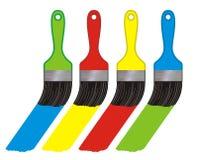 Escovas da cor Fotos de Stock