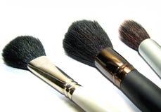 Escovas da fêmea para uma composição Foto de Stock