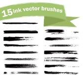 Escovas da tinta Fotografia de Stock