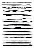 Escovas de Grunge Imagens de Stock