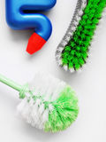 Escovas de limpeza de esfrega Foto de Stock Royalty Free