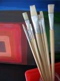 Escovas de pintura 1 Imagem de Stock