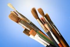Escovas de pintura Imagem de Stock Royalty Free