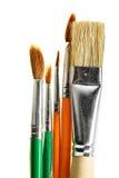 Escovas de pintura Fotografia de Stock Royalty Free