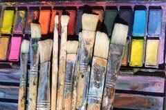Escovas de pintura Fotos de Stock Royalty Free
