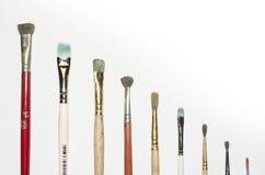 Escovas de pintura Fotos de Stock