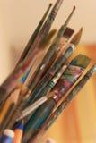 Escovas de pintura Fotografia de Stock
