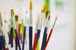 Escovas de pintura Imagem de Stock