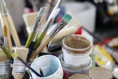 Escovas de pintura Foto de Stock Royalty Free