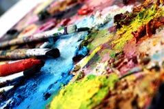 Escovas de pintura Imagens de Stock Royalty Free