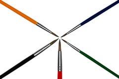 Escovas de pintura coloridas artísticas Imagens de Stock Royalty Free
