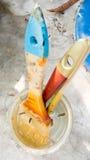 Escovas de pintura com fundo da natureza Imagem de Stock