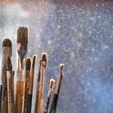 Escovas de pintura do artista Imagens de Stock Royalty Free