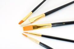 Escovas de pintura no semicircle Imagem de Stock Royalty Free