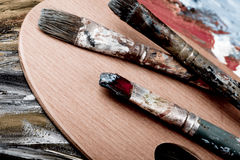 Escovas de pintura retros Fotos de Stock Royalty Free