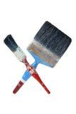 Escovas de pintura velhas Fotos de Stock