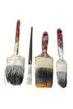 Escovas de pintura velhas Foto de Stock Royalty Free