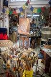 Escovas de pintura - vistas em torno da ilha das Caraíbas de Curaçau Foto de Stock