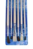 Escovas diferentes da arte Fotografia de Stock