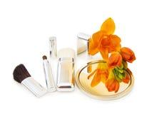 Escovas dos makeups do encanto Fotos de Stock Royalty Free