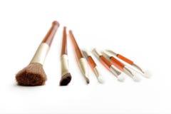 Escovas e aplicador da composição Imagens de Stock Royalty Free
