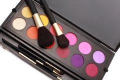 Escovas e cores da composição Imagens de Stock Royalty Free