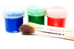Escovas e tintura Foto de Stock Royalty Free
