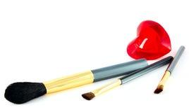 Escovas isoladas da composição Imagens de Stock
