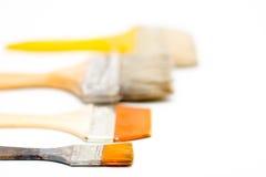 Escovas no fundo branco Imagem de Stock