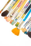 Escovas no fundo branco Foto de Stock Royalty Free