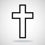 Escovas pintadas cruz, símbolo cristão Fotografia de Stock Royalty Free