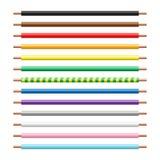Escovas sem emenda do teste padrão do vetor bonde pronto para uso do fio ilustração do vetor