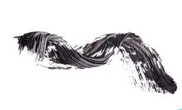 Escove o strok da máscara preta do rímel no branco Fotografia de Stock Royalty Free