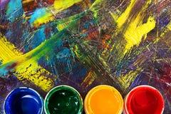 Escove para pintar a imagem Escovas de pintura Imagens de Stock
