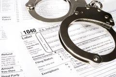 Escravo aos impostos imagens de stock royalty free