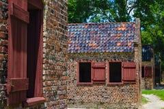 Escravo Houses Charleston da plantação foto de stock