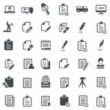 Escreva e grupo do ícone da notícia Fotografia de Stock Royalty Free