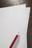 Escreva em uma folha vazia do papel A4 Foto de Stock Royalty Free