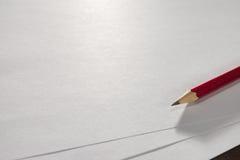 Escreva em uma folha vazia do papel A4 Fotografia de Stock Royalty Free