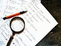 escreva a matemática imagens de stock