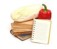 Lápis no caderno foto de stock