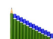 Escreva o gráfico de barra fotos de stock royalty free