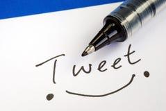 Escreva o Tweet da palavra fotos de stock