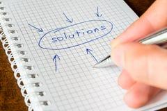 Escreva todas as soluções Fotografia de Stock