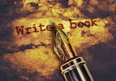 Escreva um livro imagens de stock royalty free