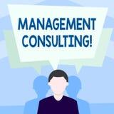 Escrevendo a consultoria de gestão da exibição da nota Conselhos apresentando da foto do negócio em analysisaging e no melhor ilustração royalty free
