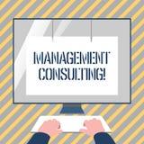 Escrevendo a consultoria de gestão da exibição da nota Conselhos apresentando da foto do negócio em analysisaging e no melhor ilustração do vetor