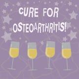 Escrevendo a cura da exibição da nota para a osteodistrofia Tratamento apresentando da foto do negócio para a dor e a rigidez das ilustração royalty free